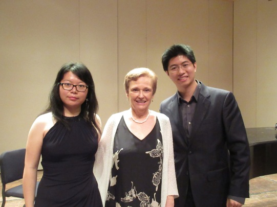 With 2nd Prize winner Mian Chen, director Leslie Luxemburg, and myself after the concert.
