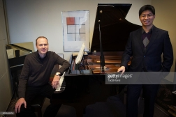 Roydon with Professor Norbert Palej | Photo Credit: Todd Korol